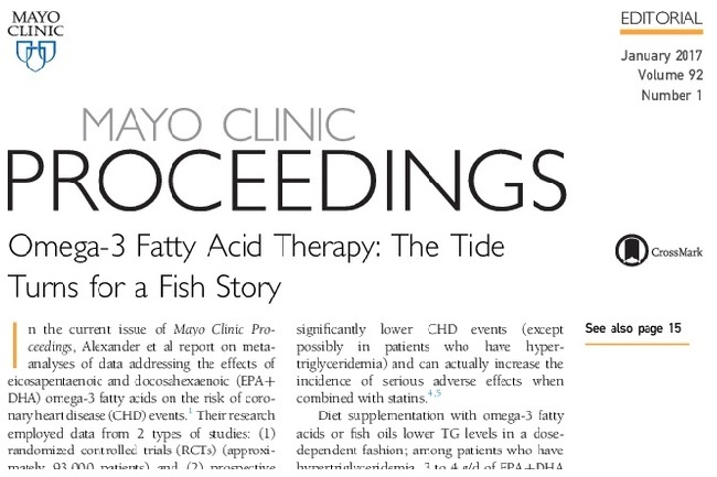 Editorial praising the Omega-3 Fish Oil Supplement Study