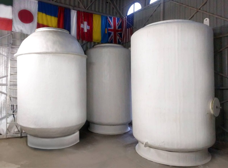 Cryonics storage tanks at cryonics firm KrioRus.